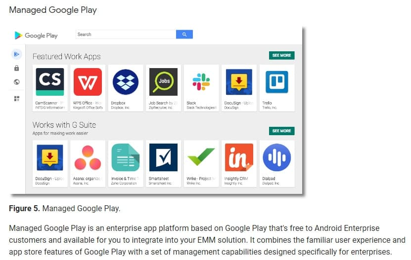 Android Enterprise Overview: Managed Google Play screenshot