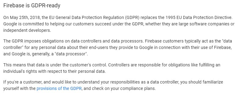 Firebase Privacy and Security: GDPR-ready intro