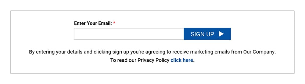 Generic email sign-up form