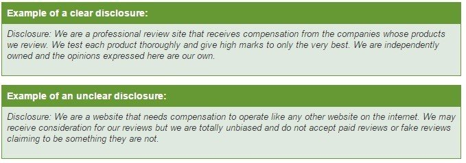 Example of Disclaimer from iPage
