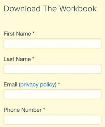 HubSpot form email field: Link to Privacy Policy