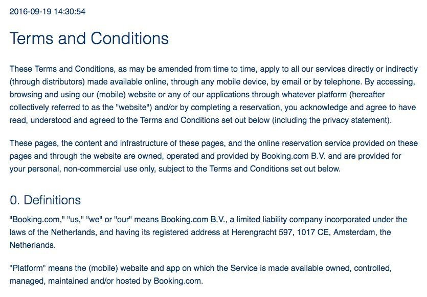Sample terms and conditions template termsfeed screenshot of booking terms and conditions page flashek Images