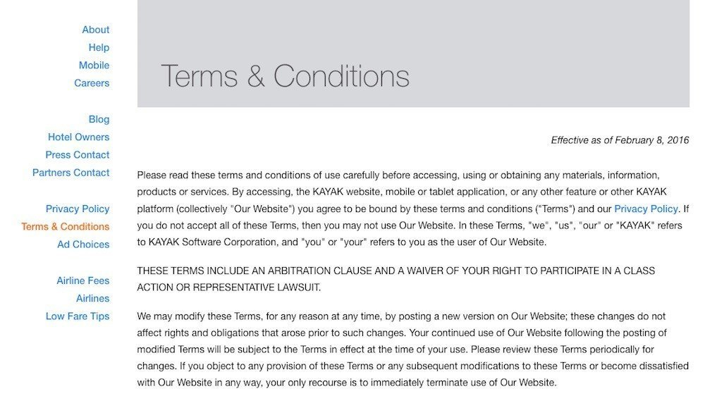 I have read and understand the terms and conditions template
