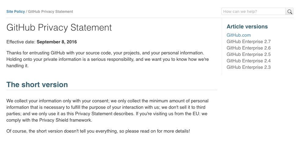 Sample Privacy Policy Template TermsFeed – Privacy Statement