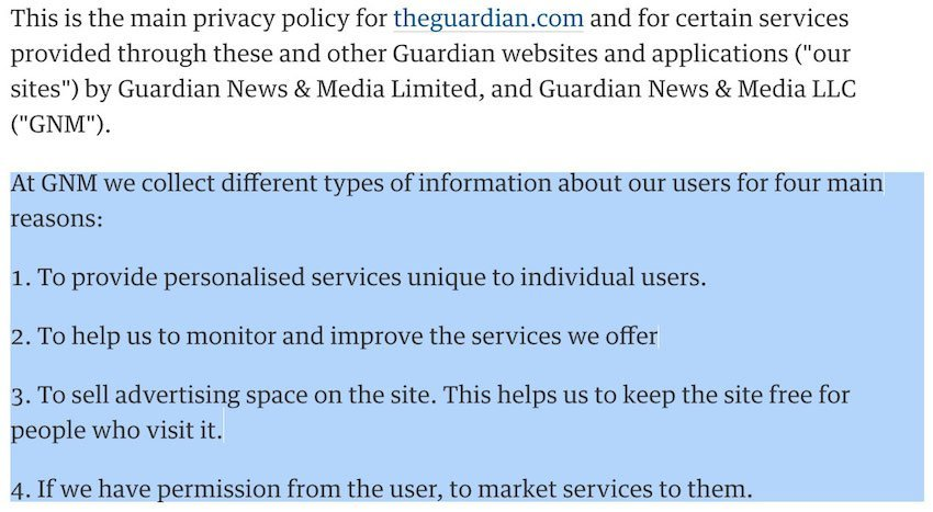 The Privacy Policy Of GMC