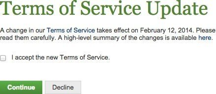 Elance Terms of Service Updated Notification To Users