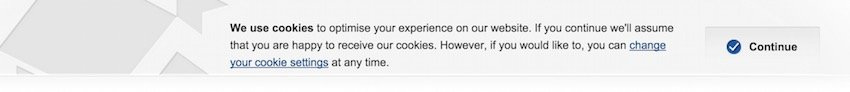 Rightmove Cookies Notification