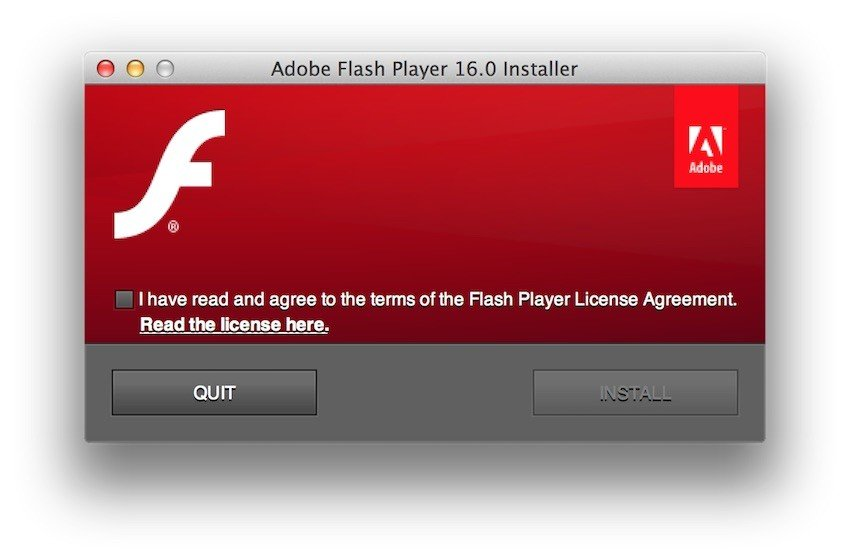 Users must accept Adobe EULA to install Flash - 1