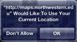 iOS Notification On Allow Current Location