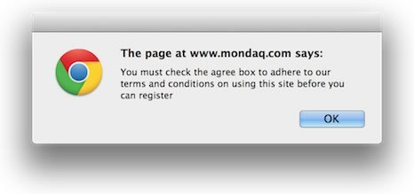 Mondaq Agree to Terms and Conditions Popup