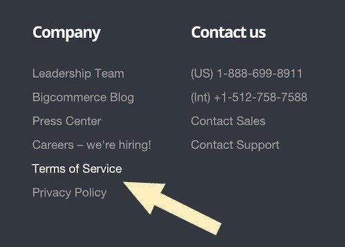 Bigcommerce Footer
