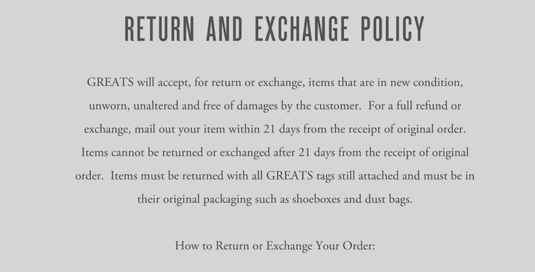 refund policies template