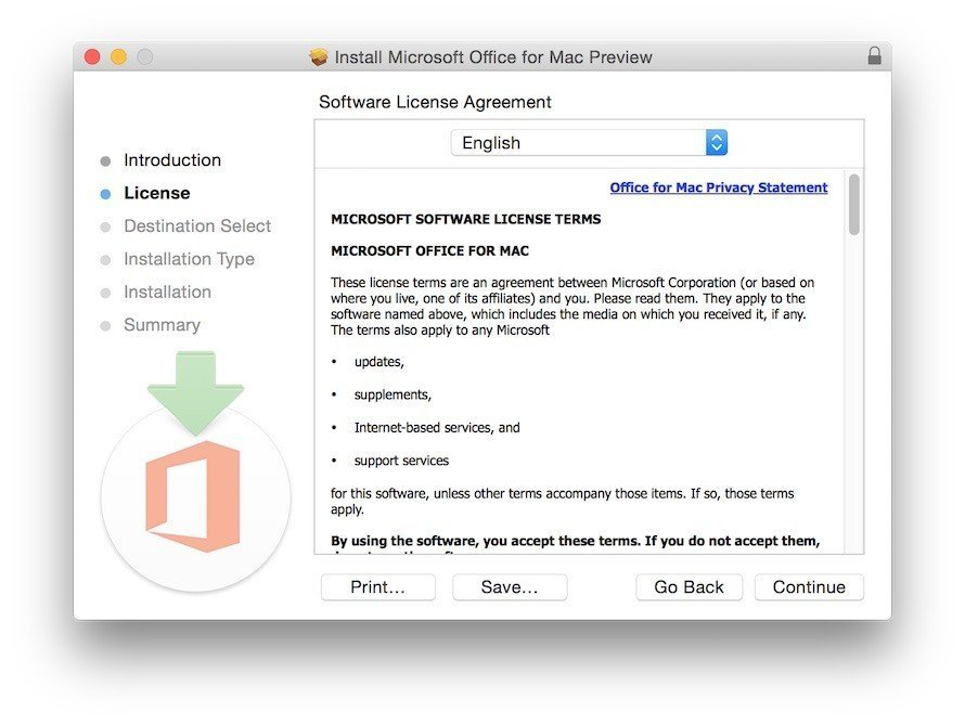 Microsoft Office Consent for Software License - 1