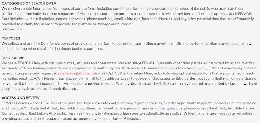 Safe Harbor Program Details In Airbnb Policy