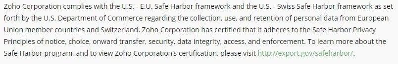 harbor safe termsfeed basecamp certification provides