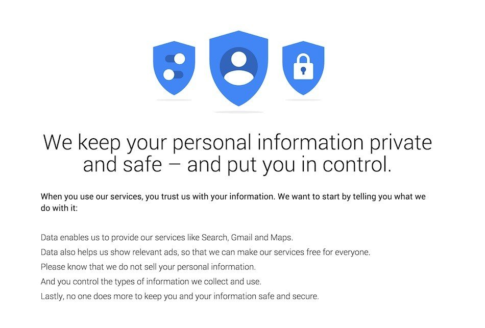 Google: We Keep Personal Information Private