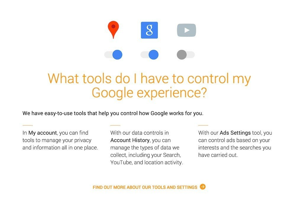 Google: What Tools Do I Have To Control