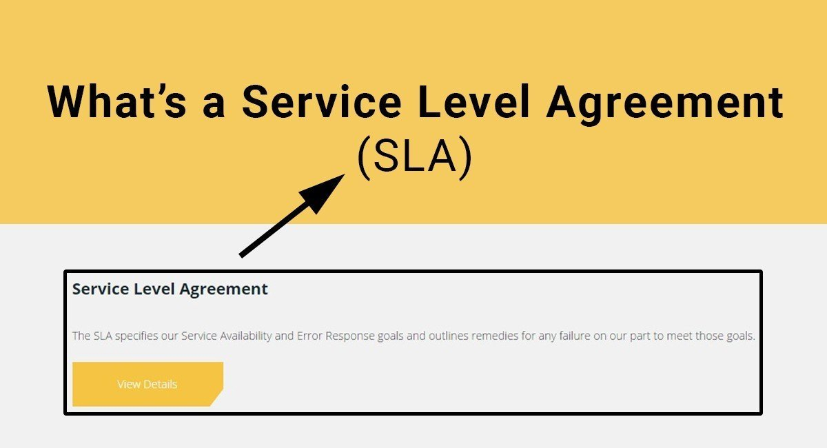 WhatS A Sla Service Level Agreement  Termsfeed