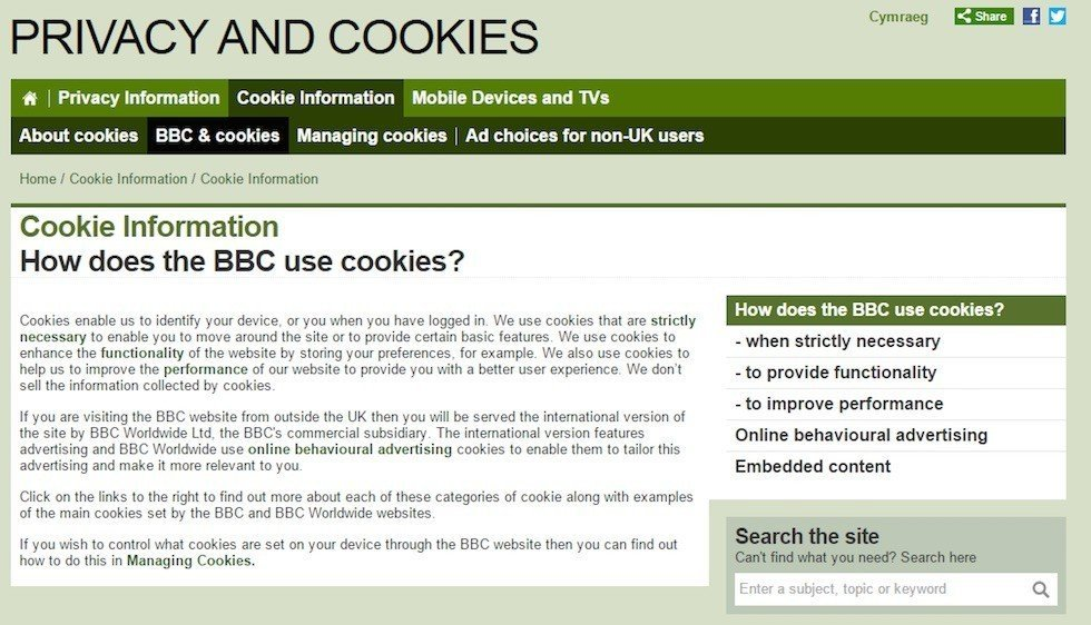 BBC: How Does BBC Use Cookies