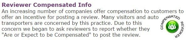 Compensated Reviewer Icon from Transport Reviews
