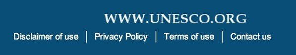 Unesco.org Privacy Policy Link In Footer