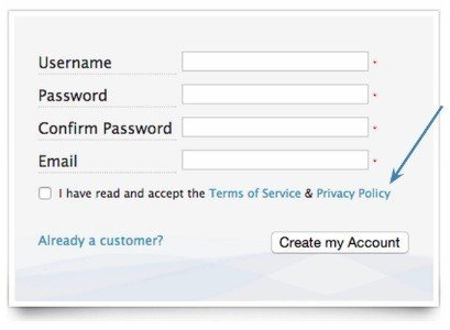 Use Clickwrap On Registration Forms  Termsfeed