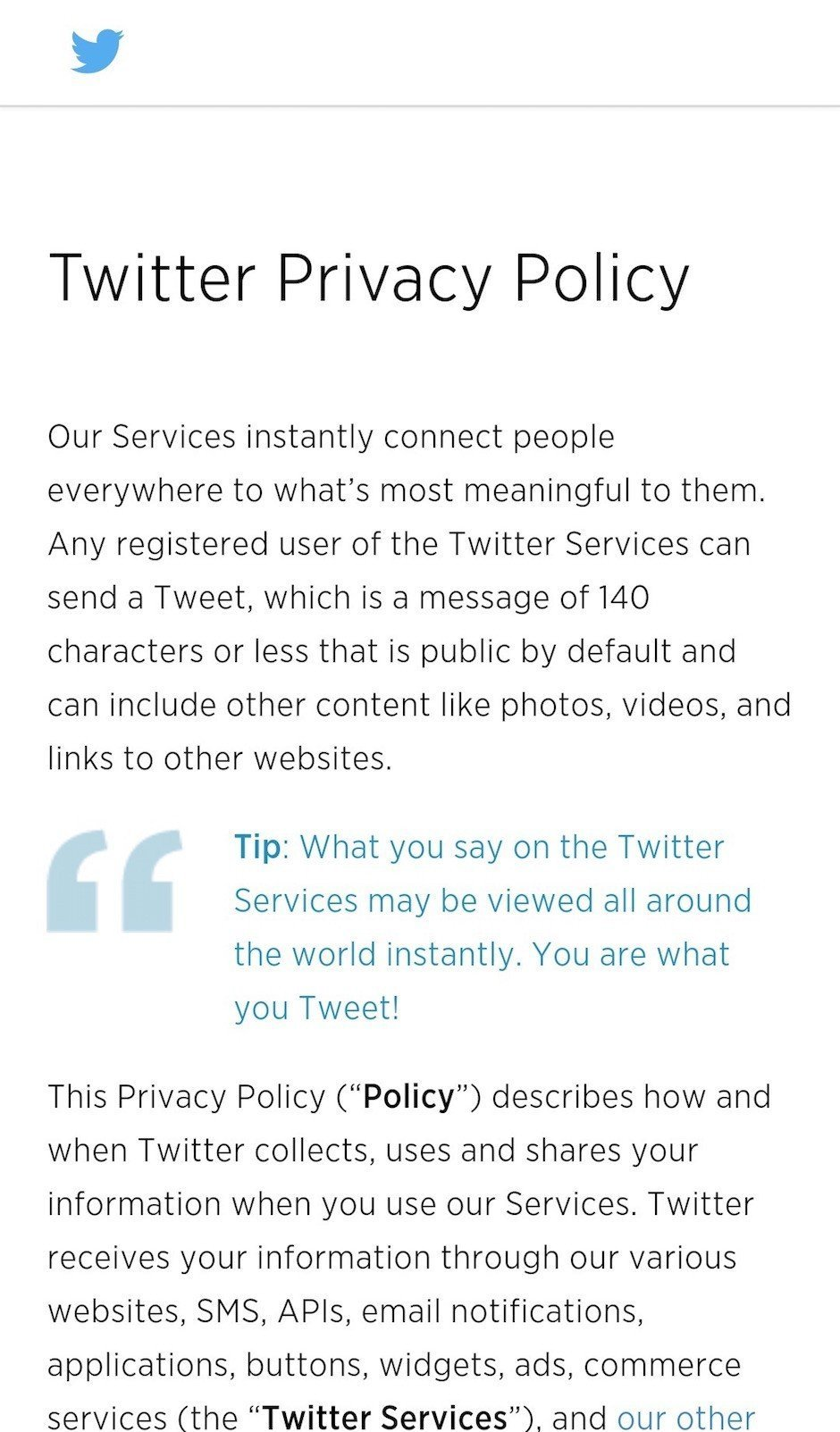 Sample privacy policy template termsfeed for Mobile app privacy policy template