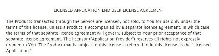 License Grant in Apple's default EULA template