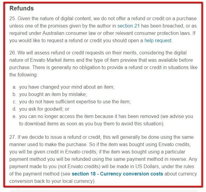 how to write a refund policy for services
