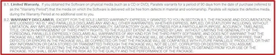 Warranty Disclaimer Sample Template
