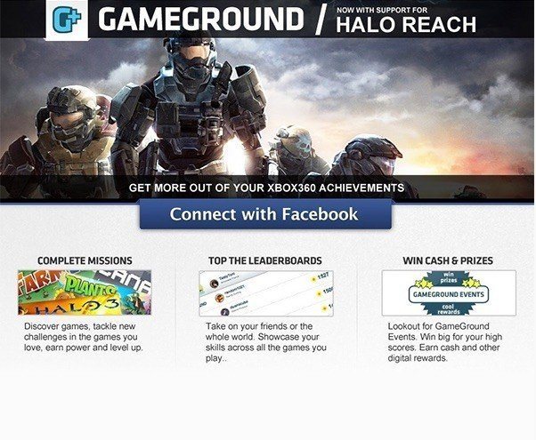 Example of landing page from Unbounce: Gamground