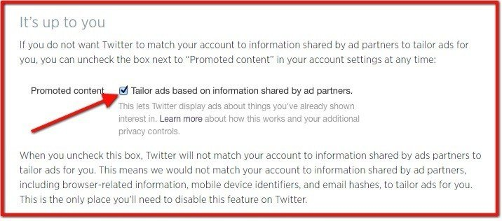 How to enable/disable Promoted Content on Twitter