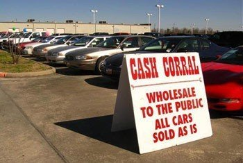 Example of As Is from cash Corral