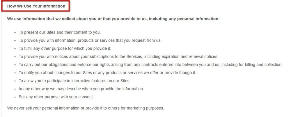 Terms of Use Privacy Policy for SaaS TermsFeed – Personal Service Contract