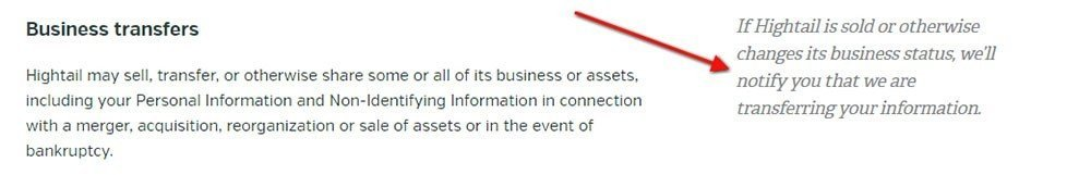 Business Transfer Clause in Privacy Policy - TermsFeed