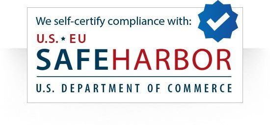 Screenshot of a We self-certify compliance with Safe Harbor image