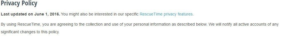 RescueTime Privacy Policy: Last updated