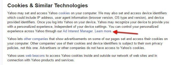 Flurry Privacy Policy: Cookies and Similar Technologies