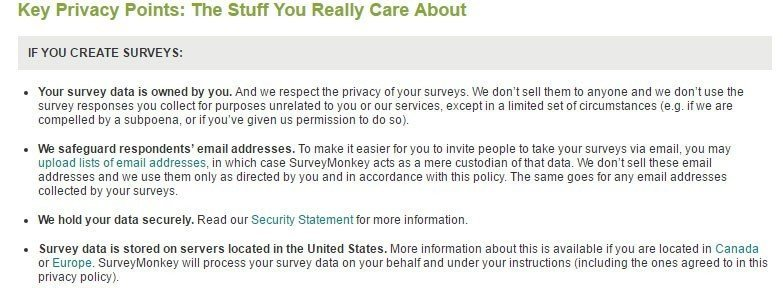 SurveyMonkey: The Key Privacy Points