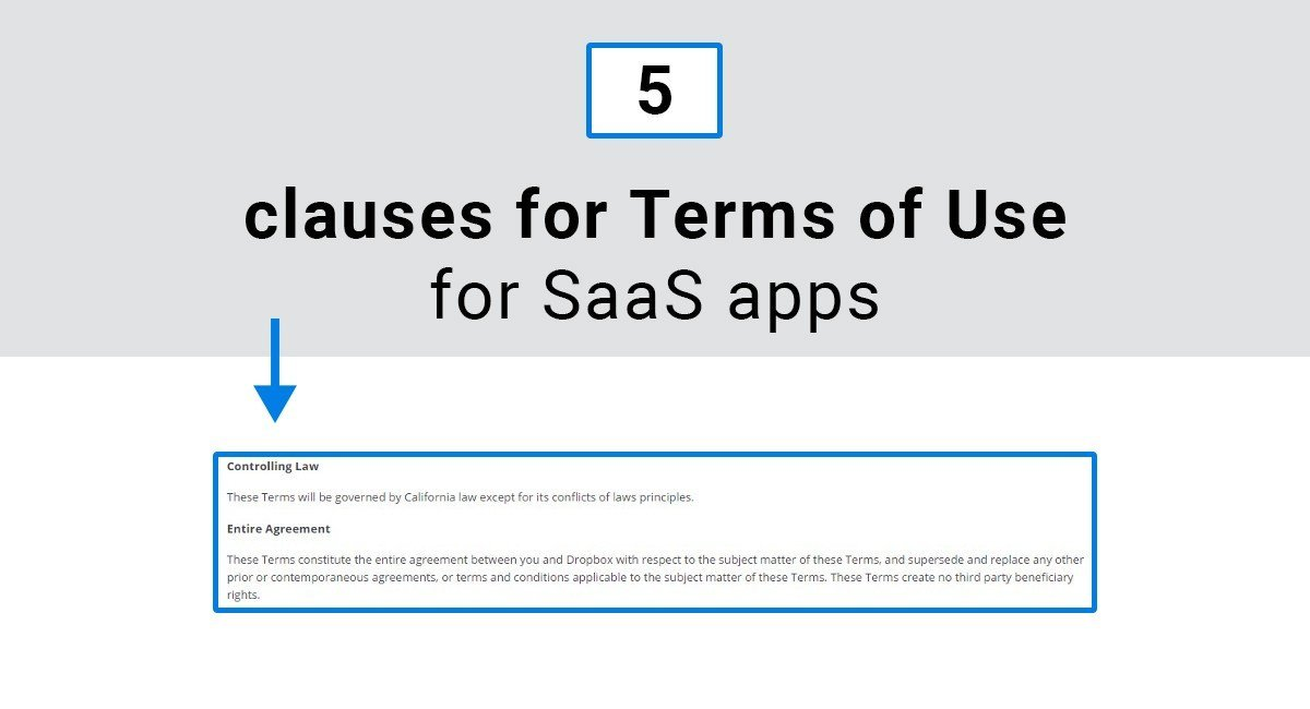 Image for: 5 clauses for Terms of Use for SaaS apps