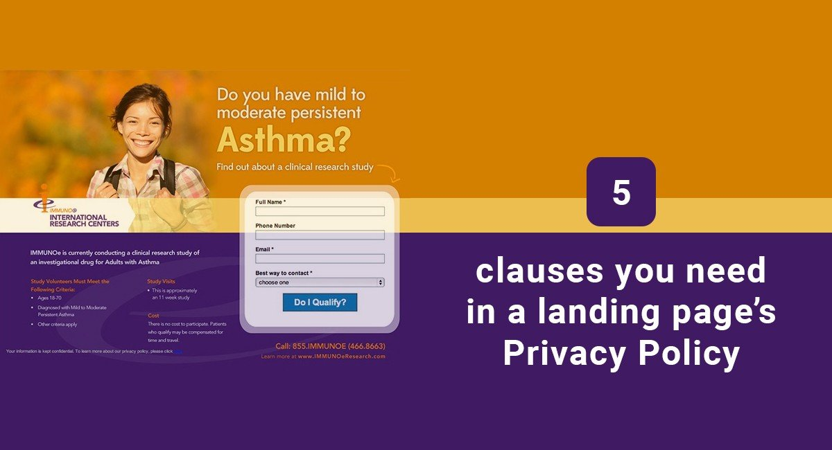 Image for: 5 clauses you need in a landing page's Privacy Policy
