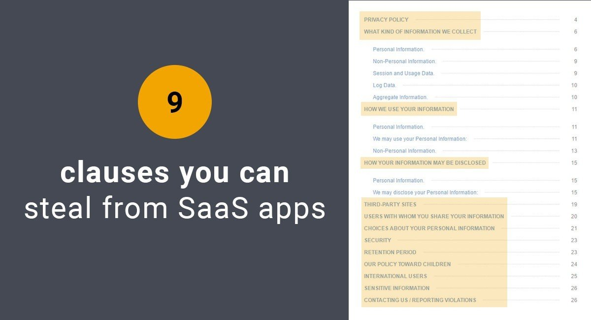 Image for: 9 Clauses You Can Steal From SaaS Apps