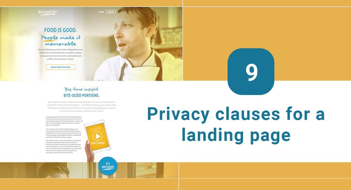 9 Privacy Clauses for a Landing Page