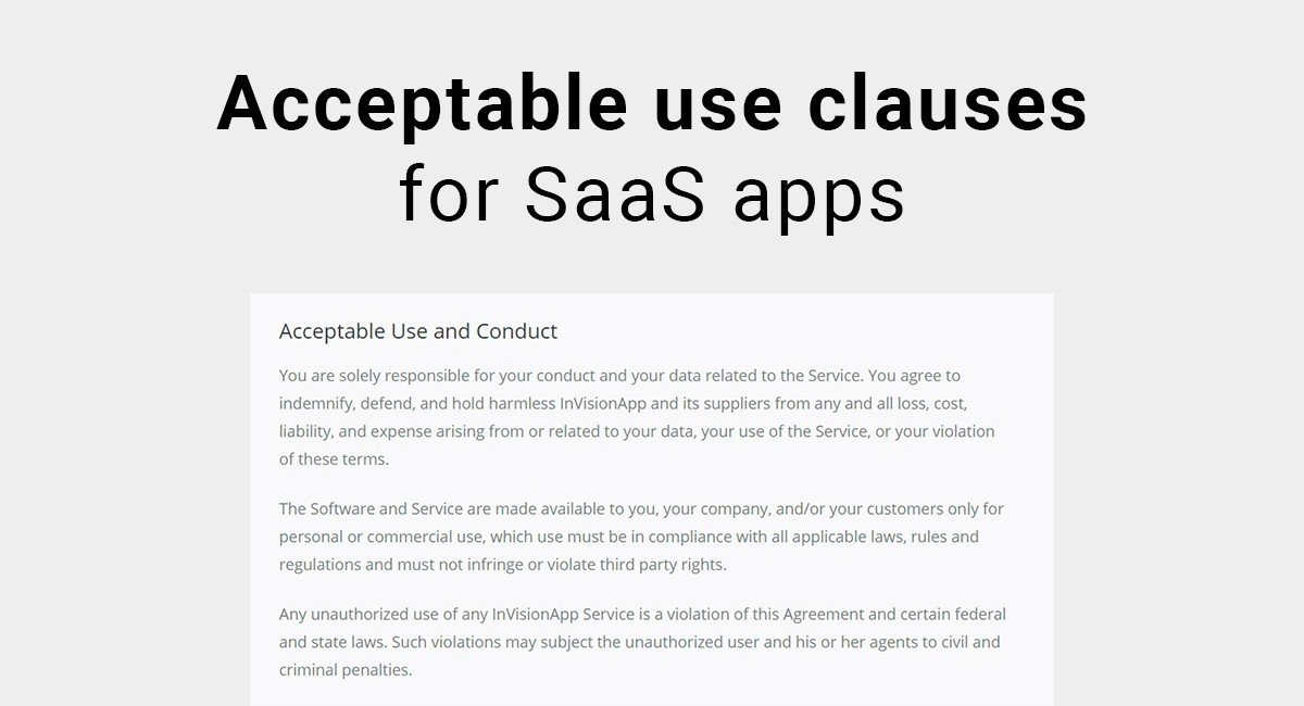 Acceptable Use Clauses for SaaS Apps