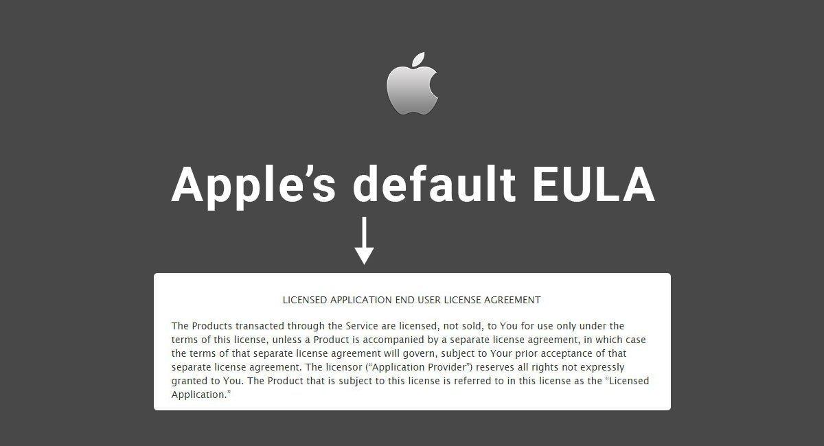 Apple's Default EULA