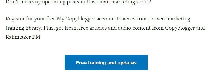 CopyBlogger approach for email address opt-in