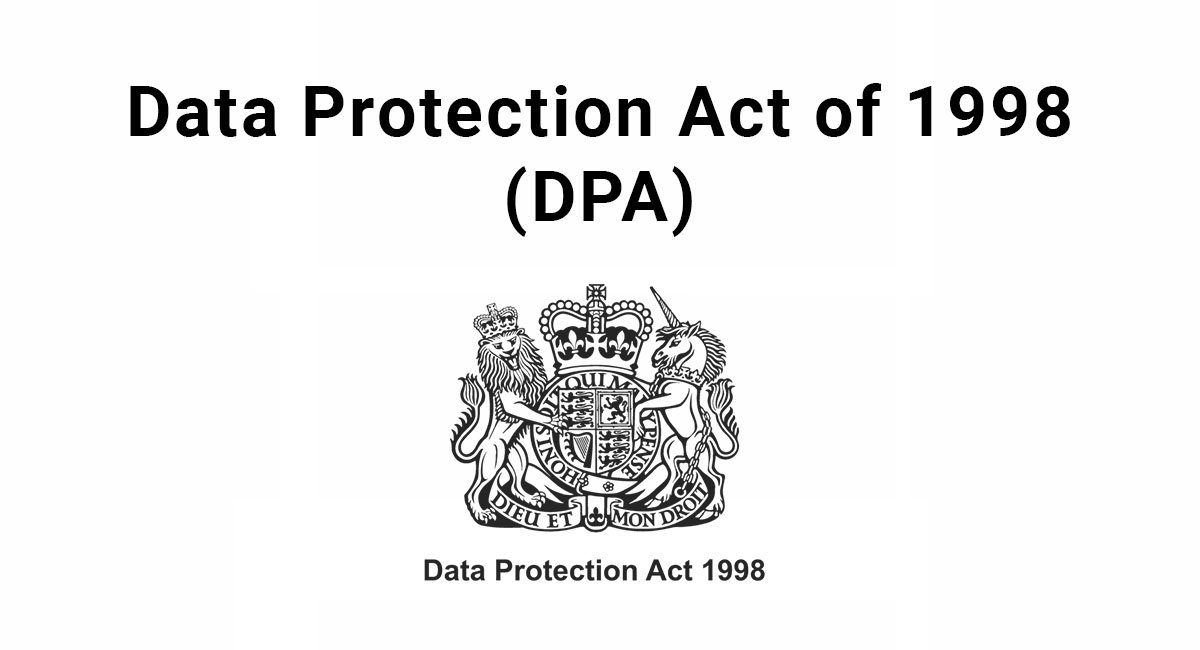 DPA Data Protection Act Of 1998