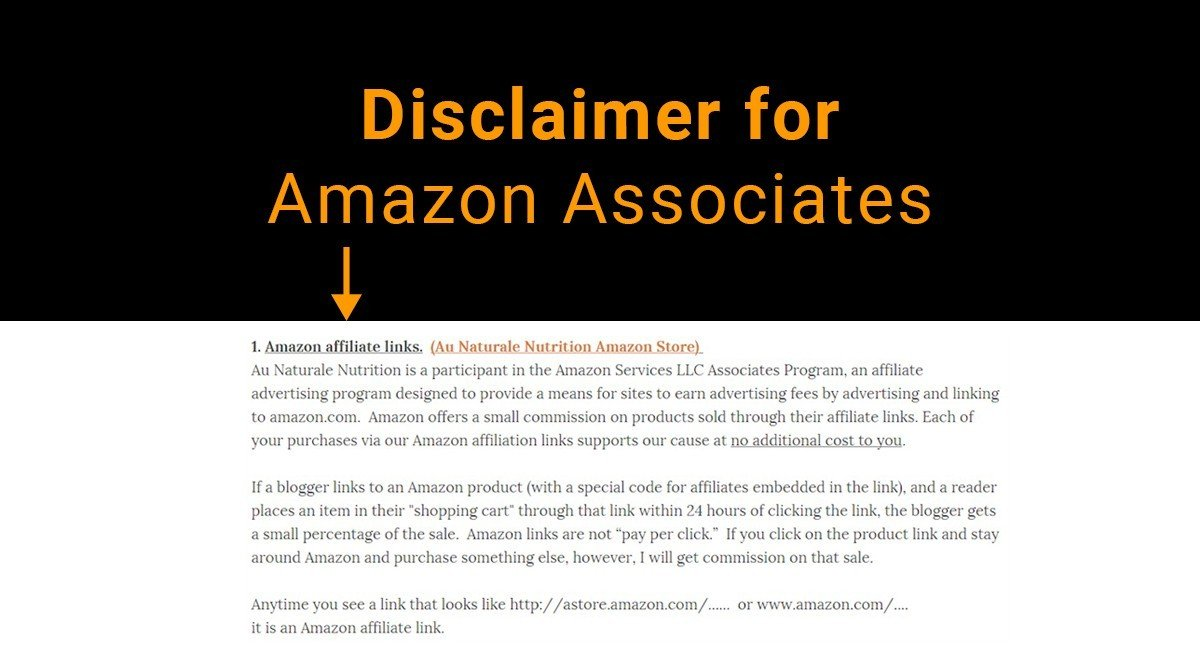 Disclaimer For Amazon Associates Termsfeed