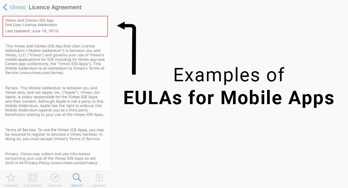 Examples of EULAs for Mobile Apps