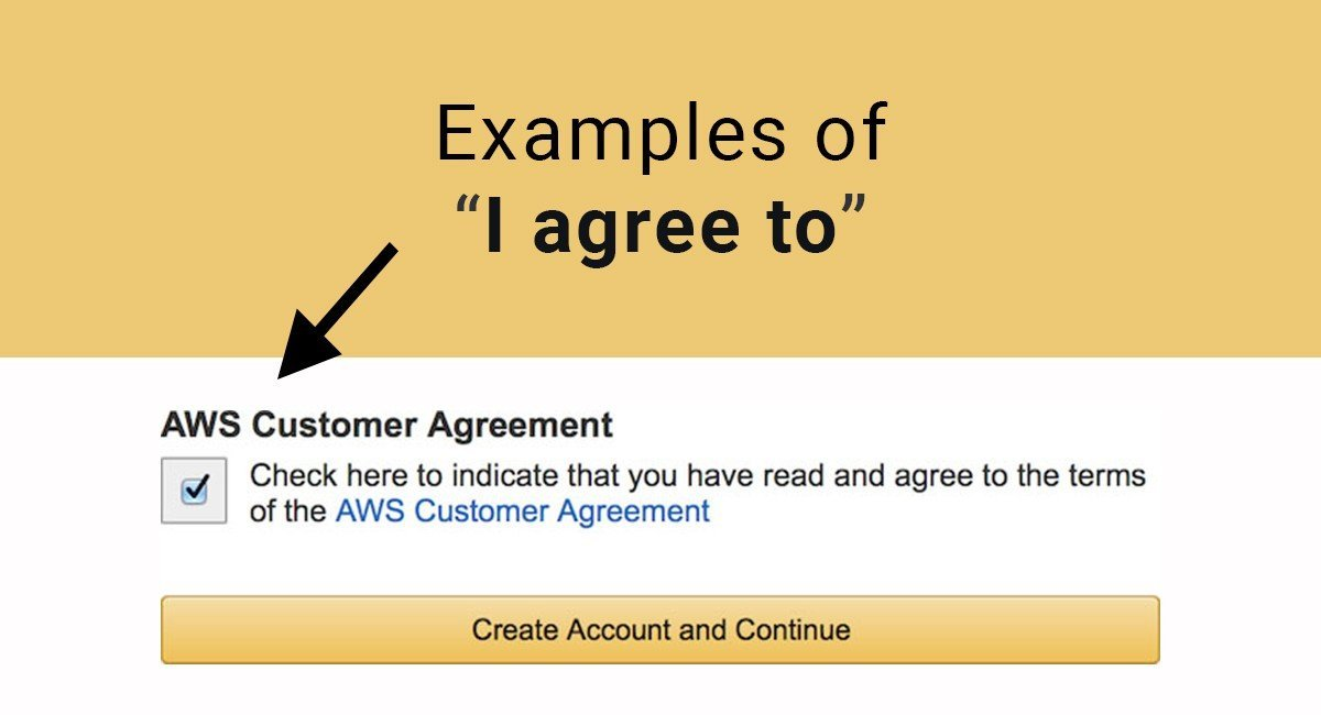 "Examples of ""I Agree to"" Checkboxes - TermsFeed"
